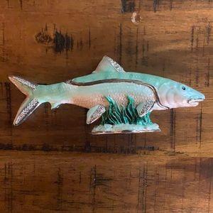 Enamel fish trinket box